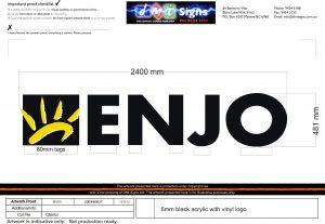 z 6mm Enjo Acrylic Logo